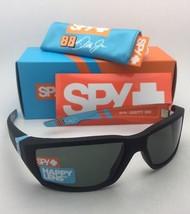 New SPY OPTIC Sunglasses DIRTY MO LIVERY Soft Matte Black Frame w/ Grey-Green