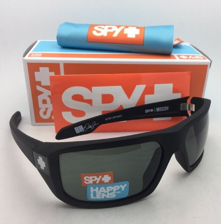 0d5999075f S l1600. S l1600. New SPY OPTIC Sunglasses McCOY Soft Matte Black Frame w  Happy  Grey-Green Lenses