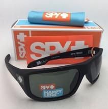New SPY OPTIC Sunglasses McCOY Soft Matte Black Frame w/ Happy Grey-Green Lenses
