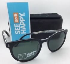 New SPY OPTIC CROSSTOWN Sunglasses ALCATRAZ Black On Horn Frame w/ Grey Green