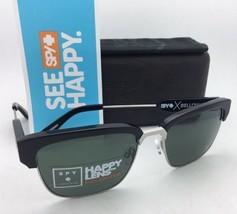 Polarized SPY OPTIC CROSSTOWN Sunglasses BELLOWS Black & Silver w/ Grey Green