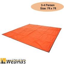 Weanas 3 to 4 Persons Orange Outdoor Groundshee... - $18.29