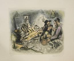"""Ira Moskowitz """"The Schtibel At Night"""" - S/N Etc... - $150.00"""