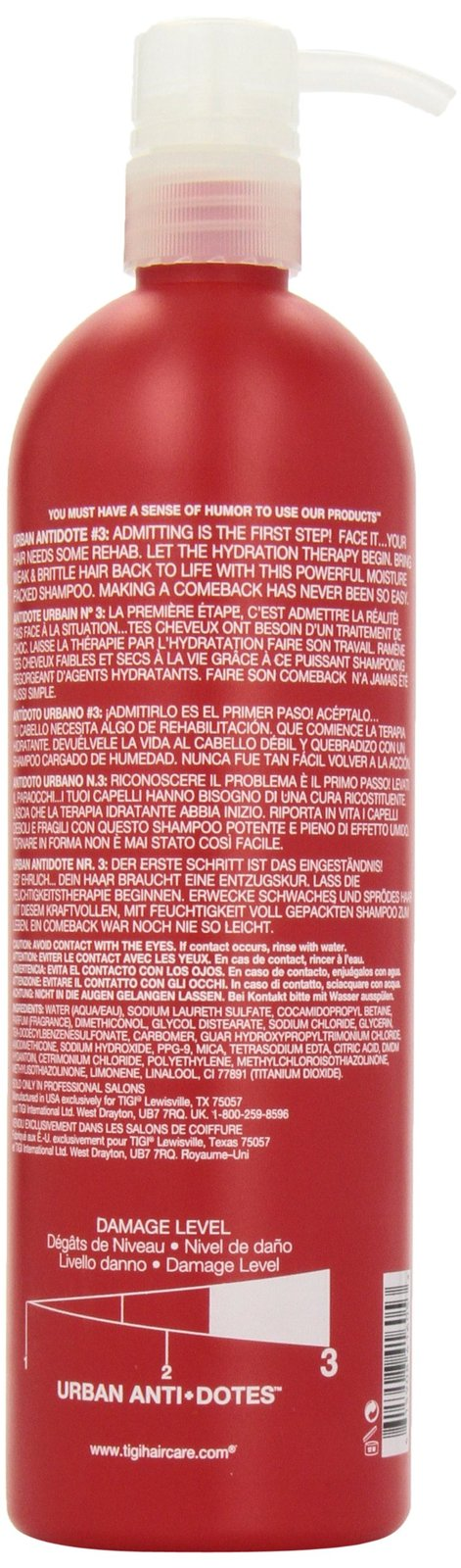 Tigi Bed Head Urban Anti+dotes Resurrection Shampoo Damage Level 3, 25.36 Ounce