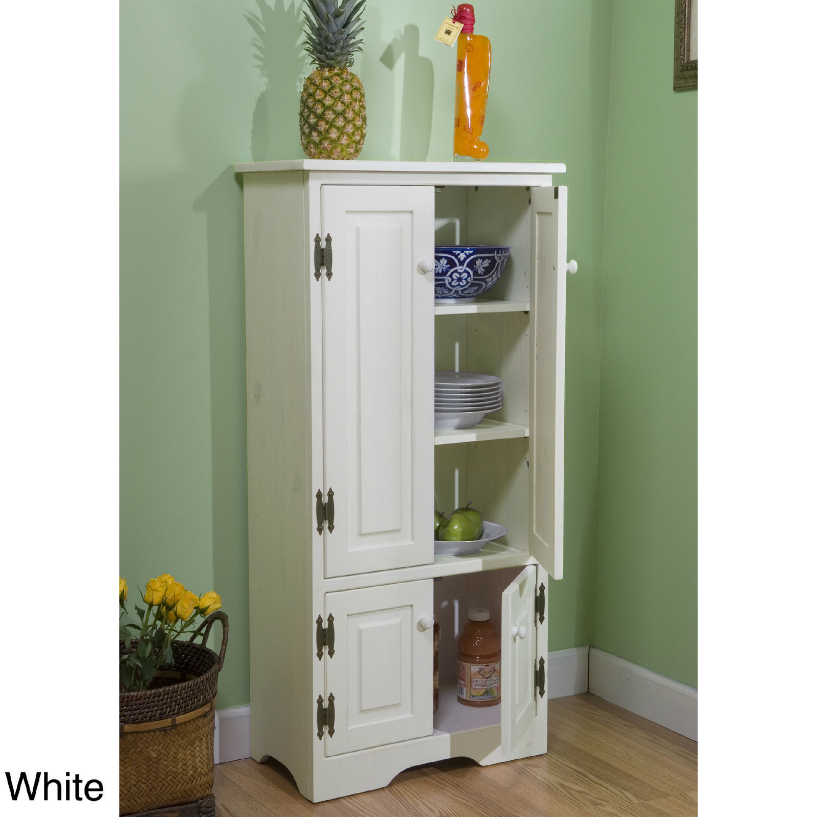 Tall Bathroom Cabinet Linen Storage Kitchen Pantry