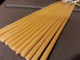 """32 Organic Beeswax Candles 15"""" long x 3/8"""" hand dipped. - $59.00"""