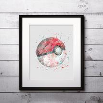 Poké Balls Pokemon Anime Art Print Printable Watercolor Art poster Wall ... - $1.75