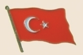 12 Pins - TURKEY , turkish flag lapel badge pin sp271 - $12.00