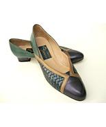 Vintage Joel Parker shoes. Pumps. Emerald, amethyst, and sapphire (navy)... - $39.00