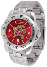 Maryland Terrapins Men Steel Sport AnoChrome Watch - $78.38