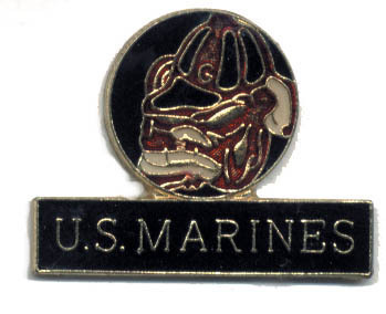 12 Pins - U.S. MARINES , us usmc marine lapel pin #204