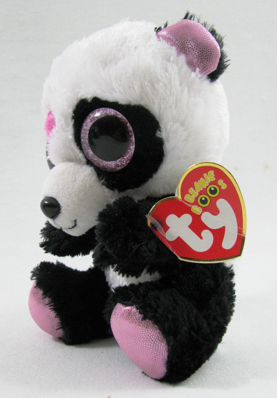 93cdc469e57 TY Beanie Boos MANDY Valentine Panda Bear 6