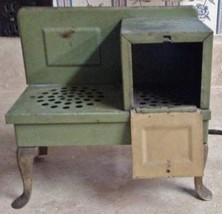 Antique Vintage 1930's Metal Ware Corp Child's Real Electric Stove Oven USA - $39.55