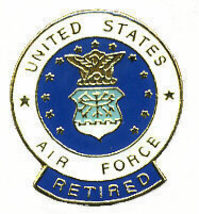 12 Pins - UNITED STATES AIR FORCE RETIRED usaf pin #50 - $9.00