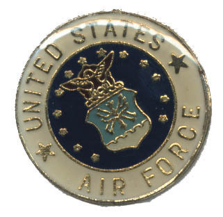 12 Pins - UNITED STATES AIR FORCE , round usaf pin 1958
