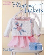 Playtime Jackets 5 Designs Size 12- 24 Months Crochet PATTERN/INSTRUCTIONS - $3.21