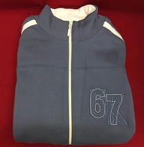 New Men's Burton Blue & White Fleece Jacket - Large - $18.28