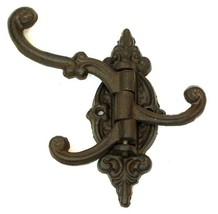 Cast Iron Swivel 3-Hook Single Rustic Brown Wall Mount  - $7.91
