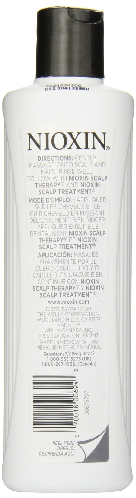 Nioxin Cleanser, System 1, Fine/Untreated/Normal to Thin-Looking, 10.1 Ounce