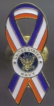 12 Pins - UNITED STATES NAVY PATRIOTIC RIBBON PIN 4974