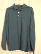 Izod Mens Size XLT Blue L/S Pullover Button Neck Shirt 100% Cotton Excel... - $7.12