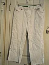 "Izod Women's Size 10 White Capris (23"" Inseam) 95% Cotton-5% Spandex Exc... - $7.80"