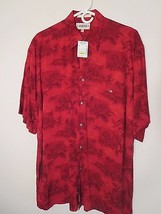 Campia Moda Men's Size M Red S/S Tropical Shirt 100% Rayon (NWT $45.00) ... - $7.92