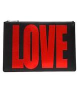 GIVENCHY Medium Love Flat Pouch, Black/Red- NWT/ BOX - $420.75