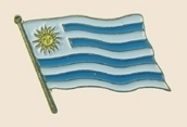 12 Pins - URUGUAY , flag hat lapel badge pin sp276