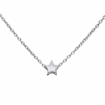 Tiny Silver Star Necklace, Solid 925 Sterling Silver Star Pendant Necklace - $14.50