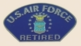 12 Pins - US AIR FORCE RETIRED , usaf lapel pin sp286 - $12.00