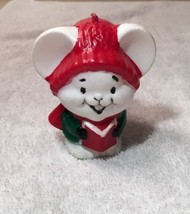 "Vintage 1981 Avon Carolling Trio Melodic Mouse Candle 3"" - in box - $5.00"