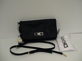 DKNY Donna Karan saffiano leather cross body bag ink color retail - $136.15