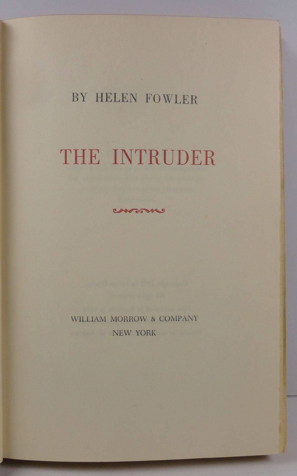 The Intruder by Helen Fowler 1953
