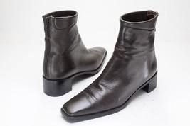 Stuart Weitzman 6 Brown Zip Ankle Boots Women's - $279.00