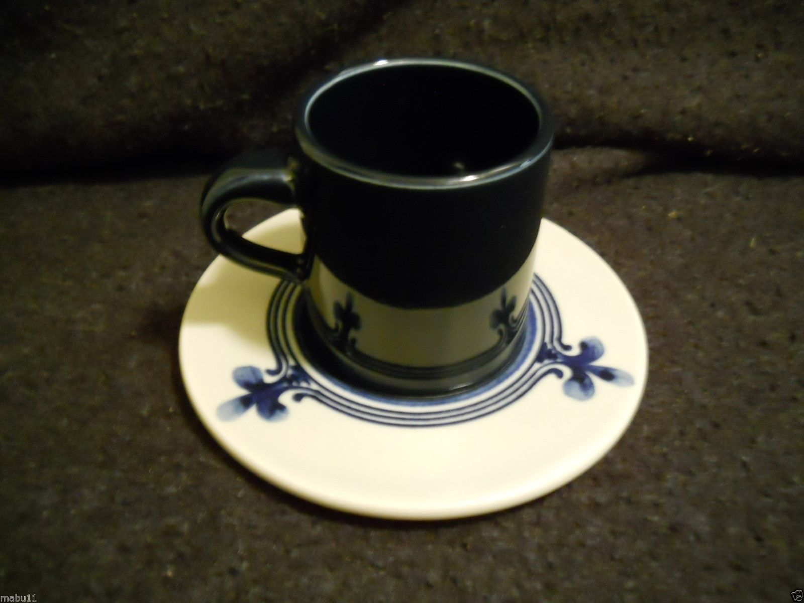 "Primary image for Rosenthal Kurforstendamm Ascot Cup & Saucer Set 2"" tall x 3 1/2"" across Gold"