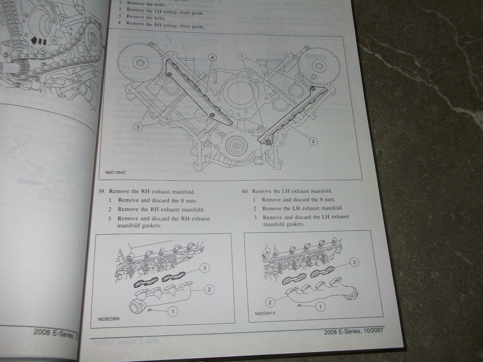2008 Ford Econoline E-Series Van Service Shop Repair Manual Set OEM W 6.0 Diesel