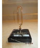 Leeman Design Letter Holder Heavy Marbled Base - $25.99
