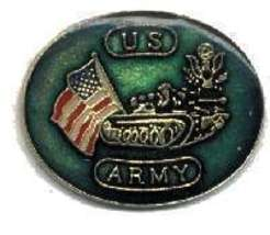 12 Pins - US ARMY w/ TANK and AMERICAN FLAG , pin #573 - $9.00