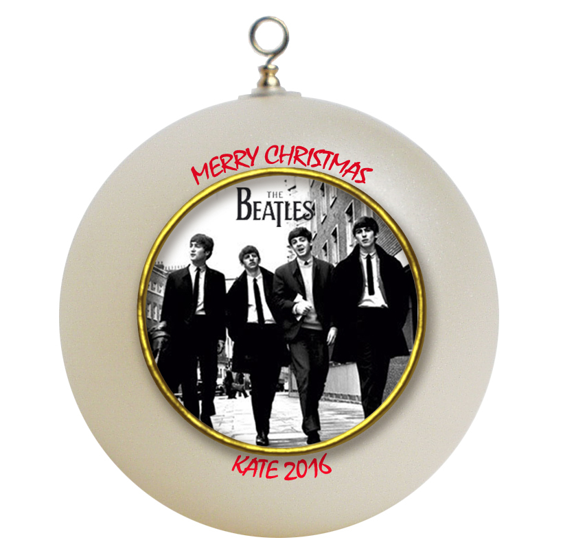 Personalized The Beatles Christmas Ornament Gift