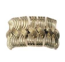Lisner Gold Tone Woven Bracelet, Signed Designe... - $21.50