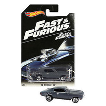 NEW 2014 Hot Wheels 1:64 Die Cast Car Fast & Furious Grey '70 CHEVELLE S... - €12,79 EUR