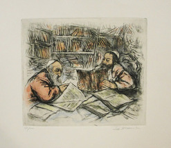 """Ira Moskowitz """"The Lesson"""" - S/N Etching - Retail $500 - COA - See Live - $150.00"""