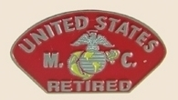 12 Pins - US MARINE CORPS RETIRED , usmc hat pin sp285