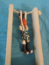 Vtg Wood Acrobat String Squeeze Flip Jumping Jack Toy Native American Co... - £27.29 GBP
