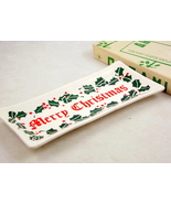Vintage Commodore ceramic Christmas greeting pl... - $10.00