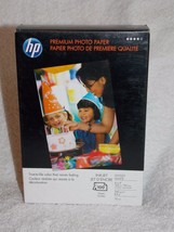 HP Premium Photo Paper 100 Inkjet Glossy Glace Sheets 4 x 6 64 lbs Q1990A New - $13.86