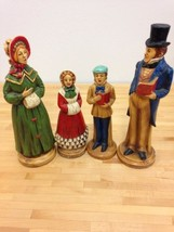 Vintage AAI Japan Paper Mache Christmas Carolers Hand Painted - $59.39