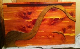 Custom Handmade Red Cedar Chest with Walnut det... - $425.00