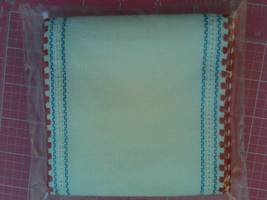"** 24ct White Red White Blue Border banding 5""w x 36"" 100% linen Zweigart - $13.50"